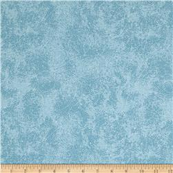 "110"" Wide Quilt Back Metallic Scroll Light Blue"