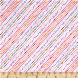 Kid's Corner Decorative Diagonal Stripe Pink/Multi