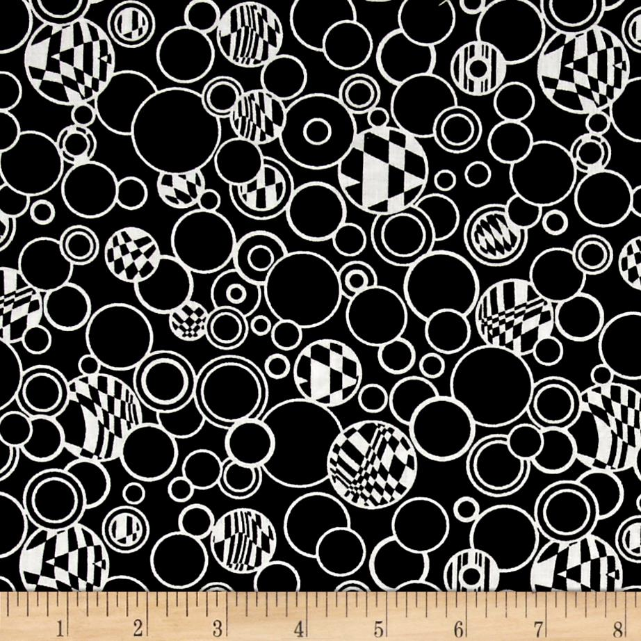 Contempo Anything Goes Bubbles Black