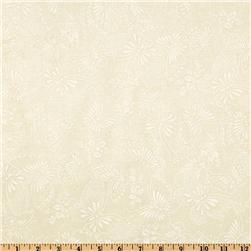 110'' Wide Quilt Backing Butterfly Ivory/White Fabric