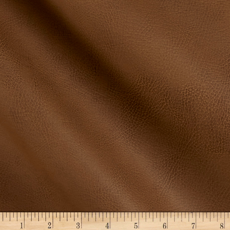 Richloom Tough Faux Leather Tiona Taupe Fabric by TNT in USA