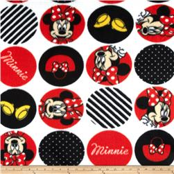 Disney Minnie Traditional Fleece Minnie Dot Icons White