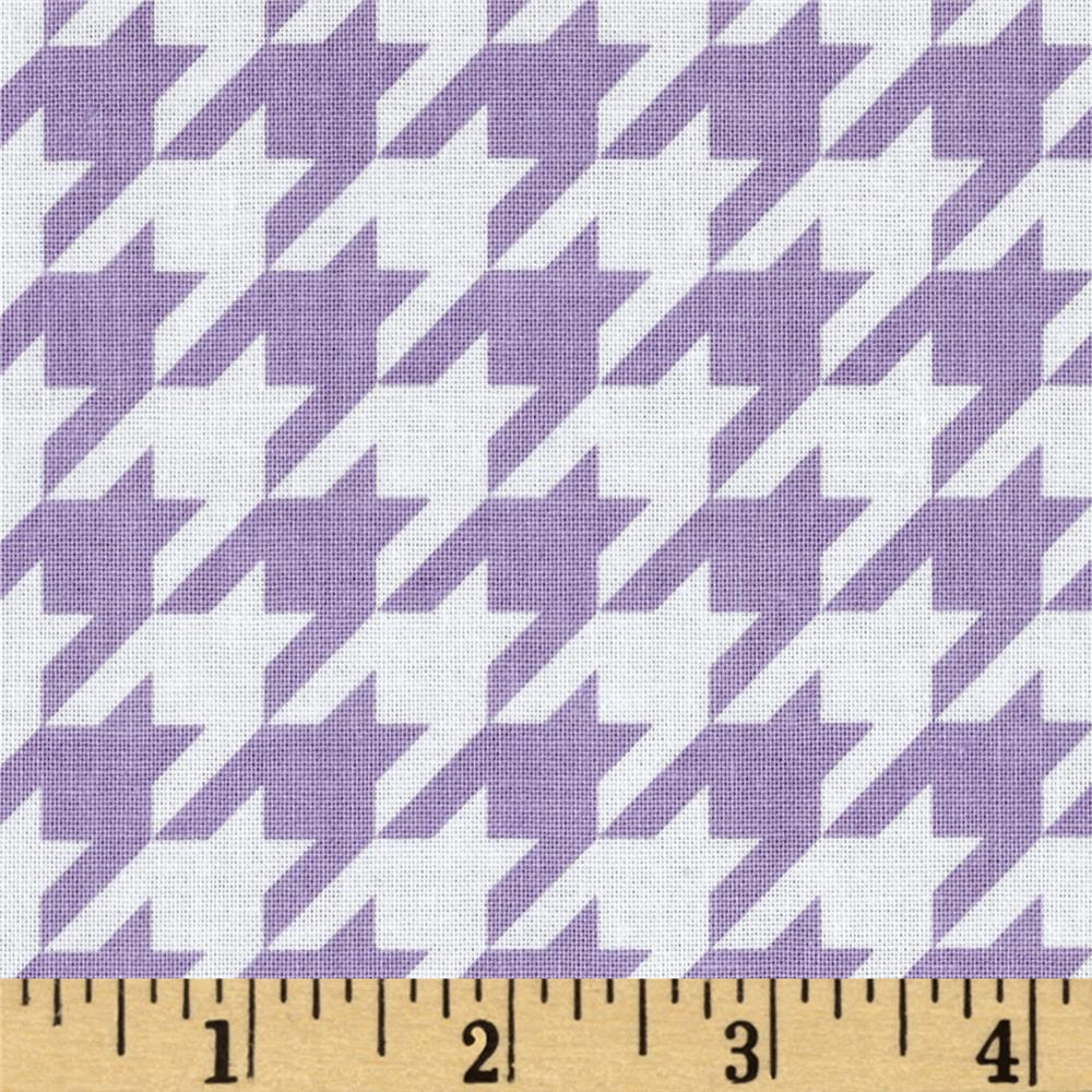 Riley Blake Medium Houndstooth Lavender