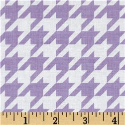 Riley Blake Medium Houndstooth Lavender Fabric