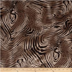Charmeuse Satin Zebra Mocha/Brown