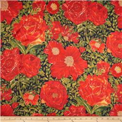 Liberty of London Belgravia Silk Satin Charmeuse Rose Xanthe Red