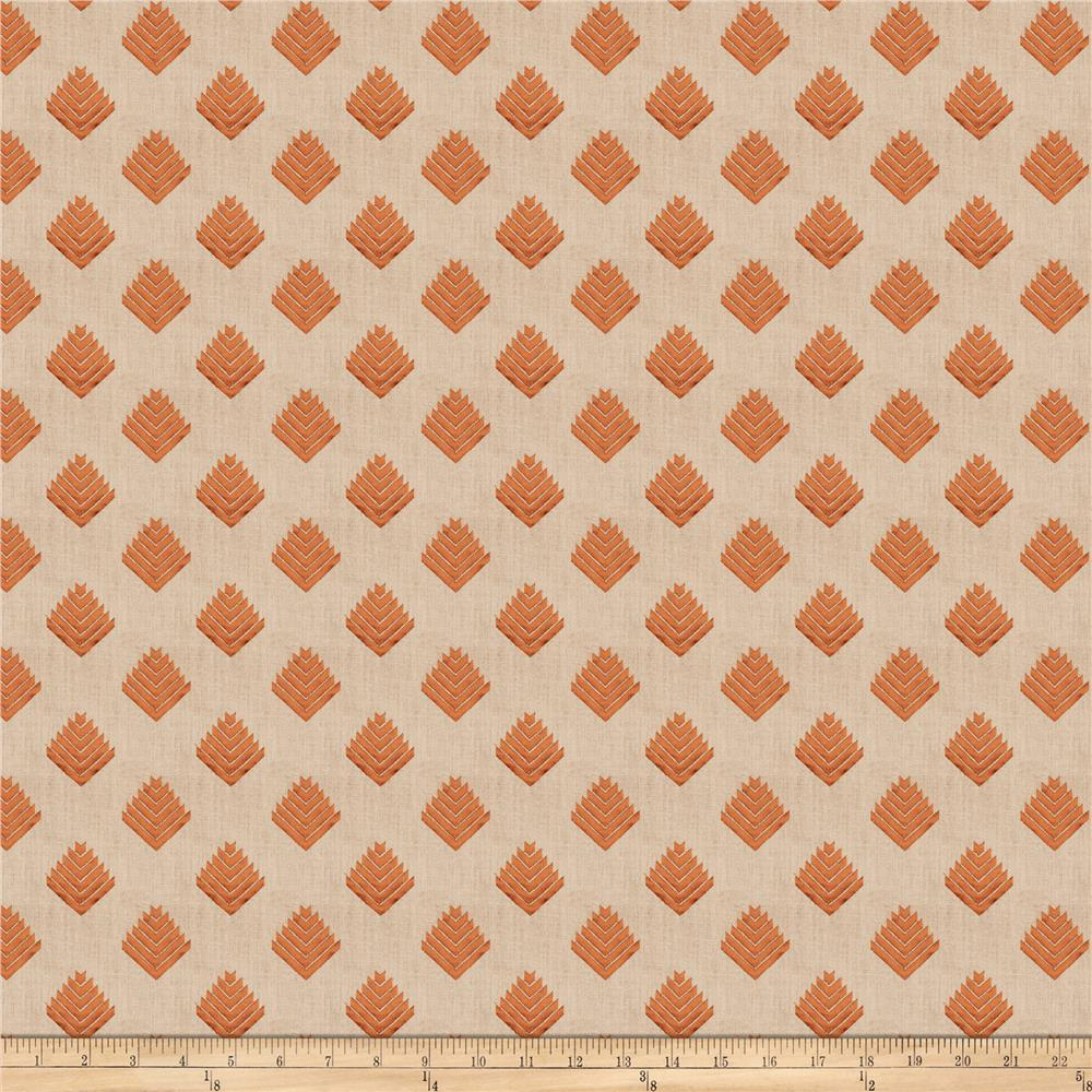 Fabricut Cool Arrow Linen Blend Pumpkin