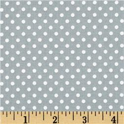 Moda Dottie Small Dots Steel