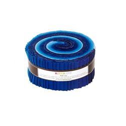 "Robert Kaufman Kona Solids Sky Gazer 2.5"" Jelly Roll"