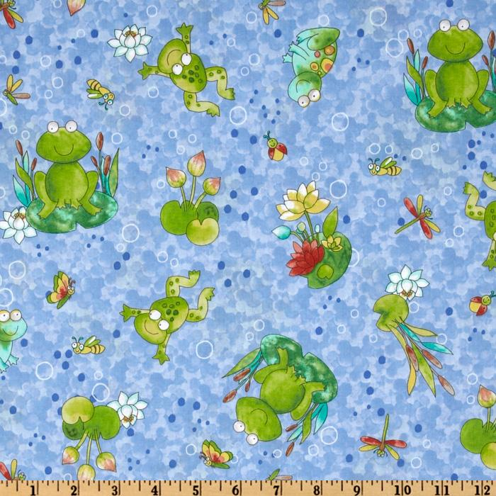 Froggin' Frogs & Lily Pads Blue
