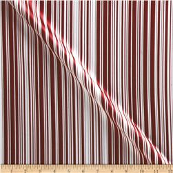 Charmeuse Satin Stripes Red