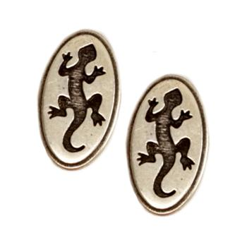 Novelty Button 1'' Gecko Antique Silver