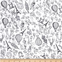 Loralie Designs Sew Paree Paris Fancy White