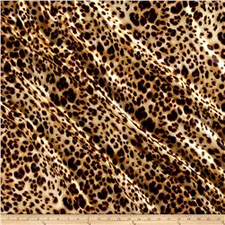 Charmeuse Satin Cheetah Print Tan/Black
