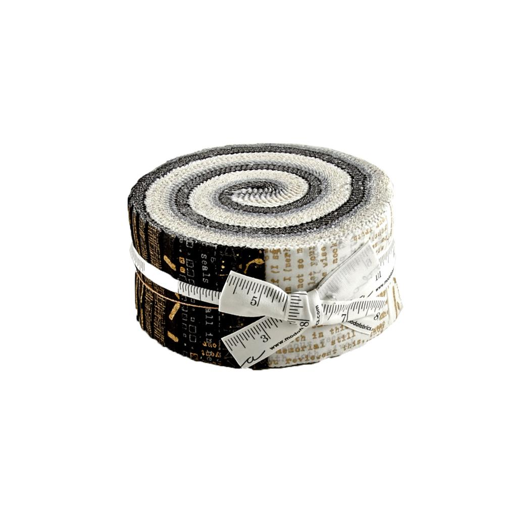 "Moda Modern Backgrounds Luster Metallic 2.5"" Jelly Roll"
