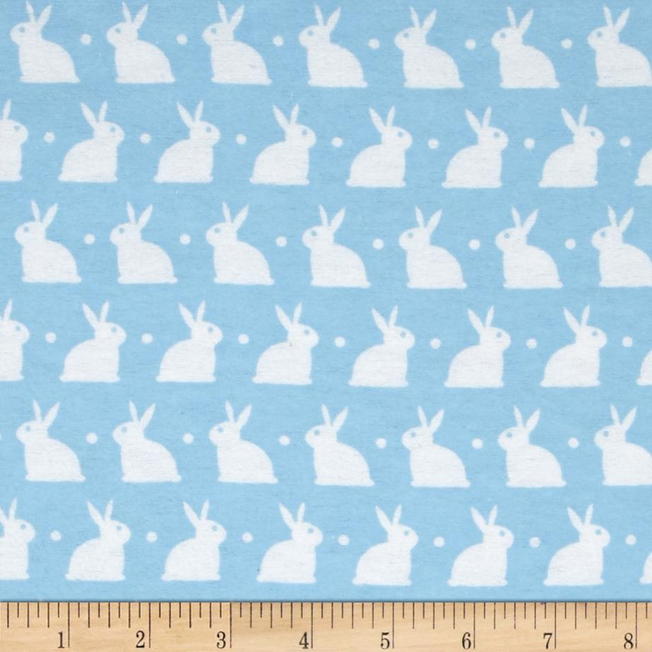 Dreamland Flannel Bedtime Bunny Dreamy Blue