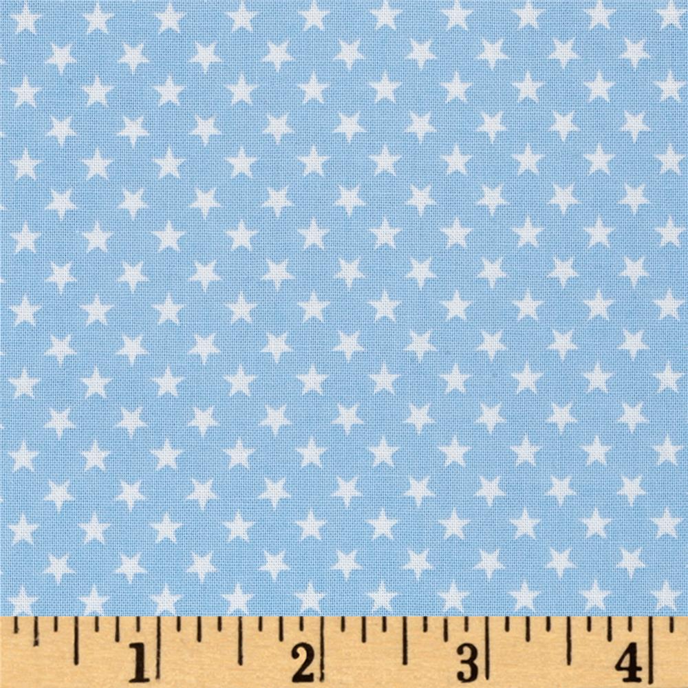 Kaufman sevenberry classiques small star blue discount for Star design fabric