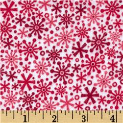 Riley Blake Home for the Holidays Flannel Flake Red
