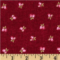 Symphony Rose Rose Buds Dark Pink Fabric
