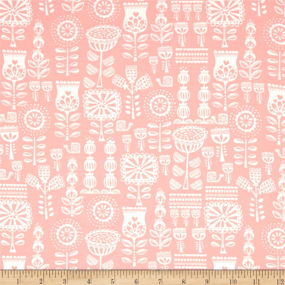Moda Lil' Red Grandma's Wallpaper Pink