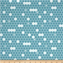 Riley Blake Fine & Dandy Hexi Blue