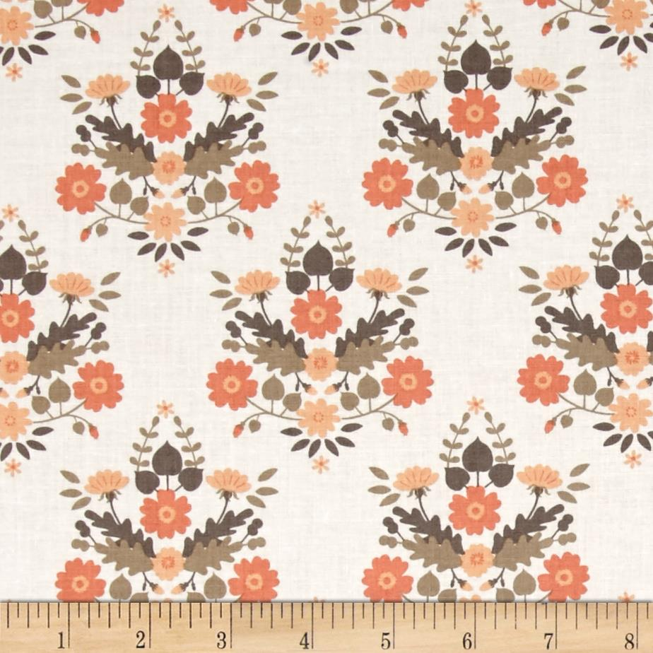 Flourish Floral Damask White