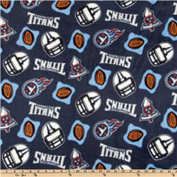 NFL Fleece Tennessee Titans Blue Fabric