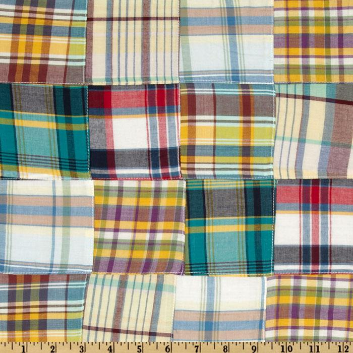Kaufman Nantucket Patchwork Plaid Multi