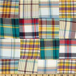 Kaufman Nantucket Patchwork Plaid Multi Fabric