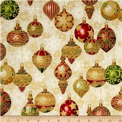 Kaufman Holiday Flourish Metallics Ornaments Holiday