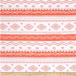 Soft Jersey Knit Aztec Melon/White