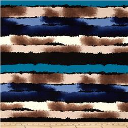Brazil Abstract Stripe ITY Knit Blue