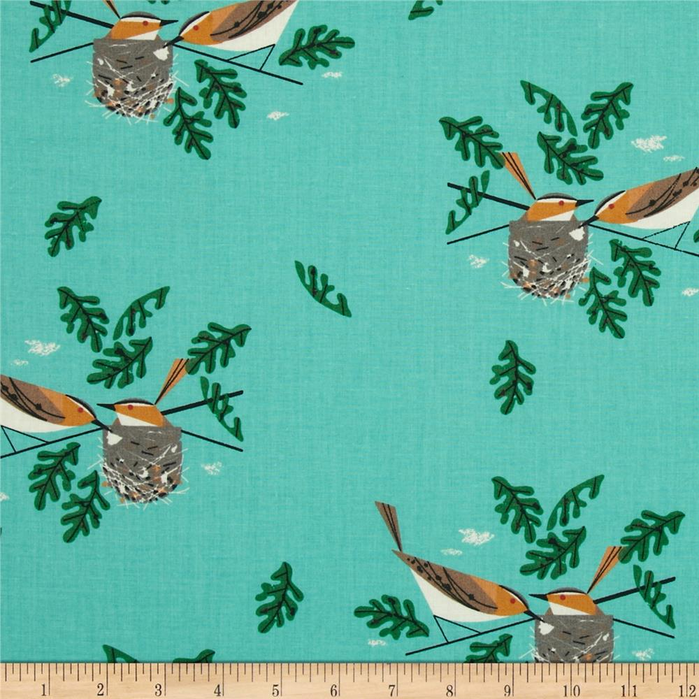 Birch Organic Charley Harper Red Eye Vireo