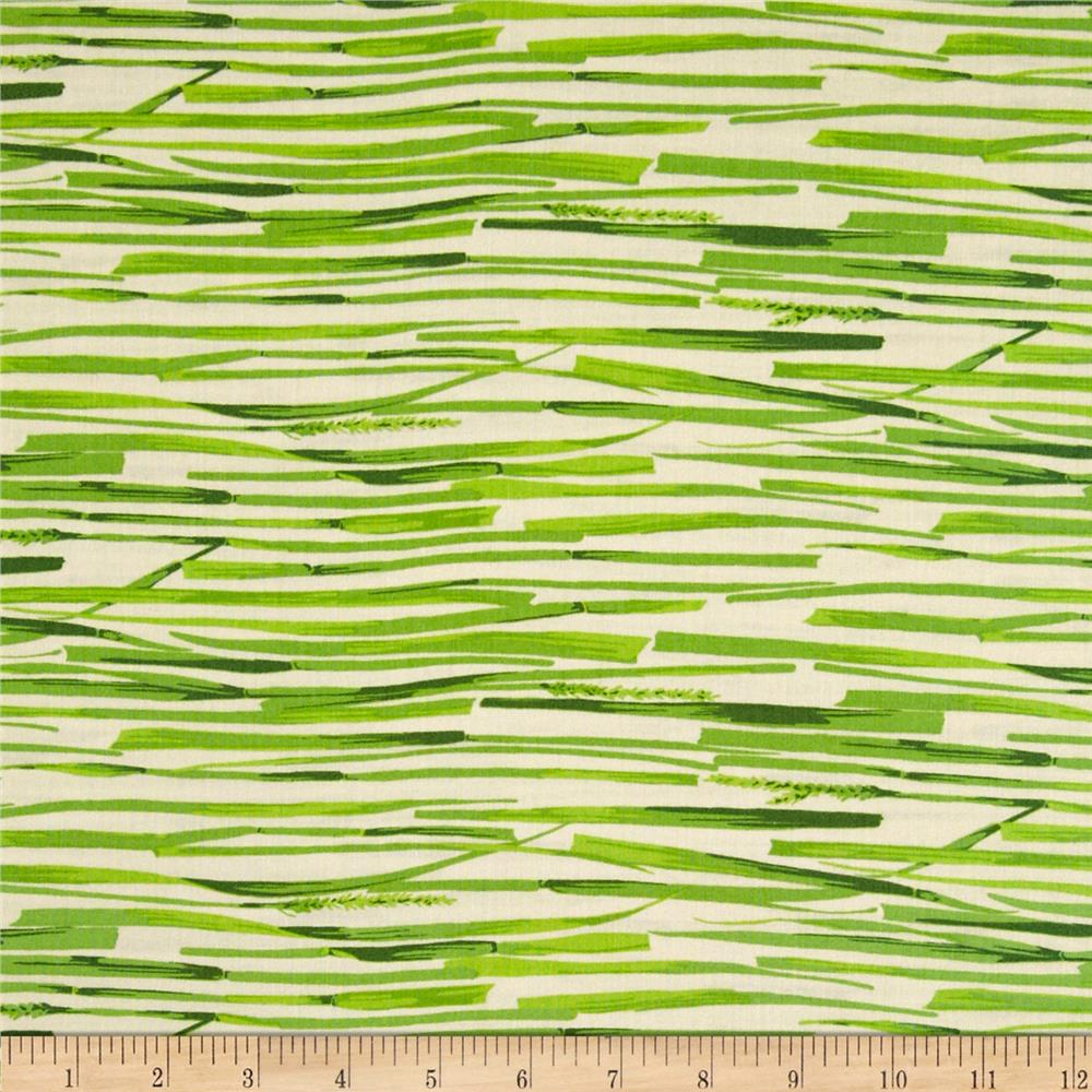 Martha Negley Westwood Grass Stripe Green