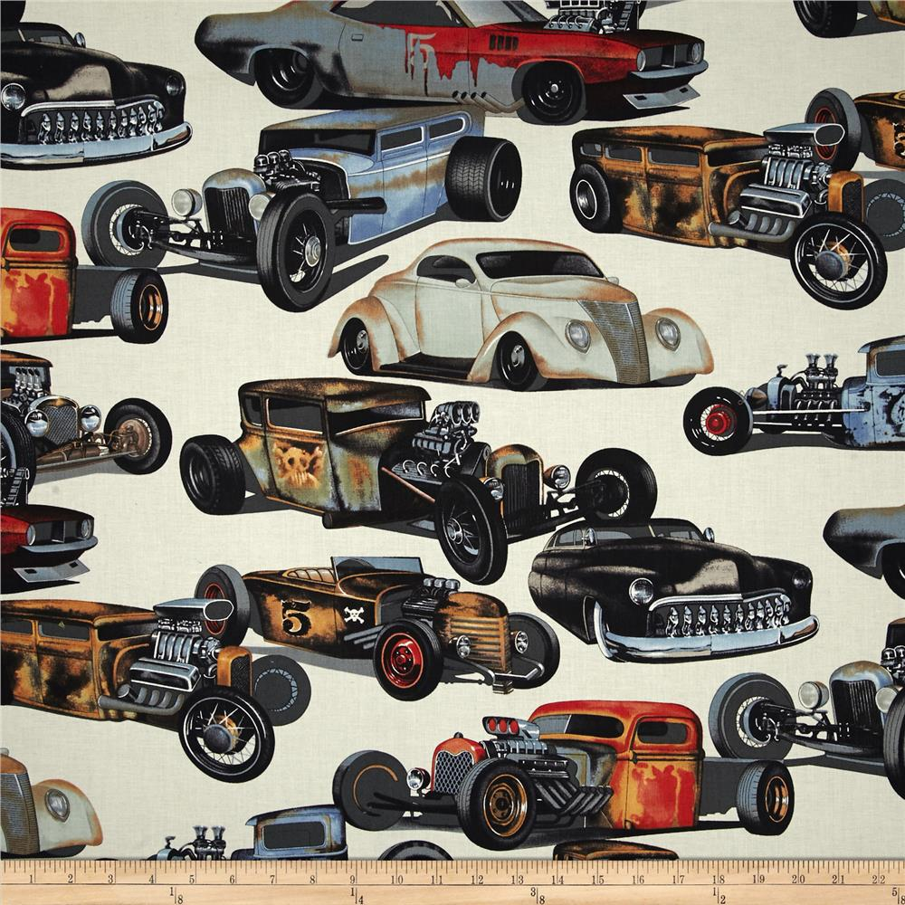 Alexander Henry Nicole's Prints Rat Rods Natural