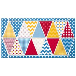 Riley Blake Holiday Banners 2 Birthday Panel Red/White/Yellow