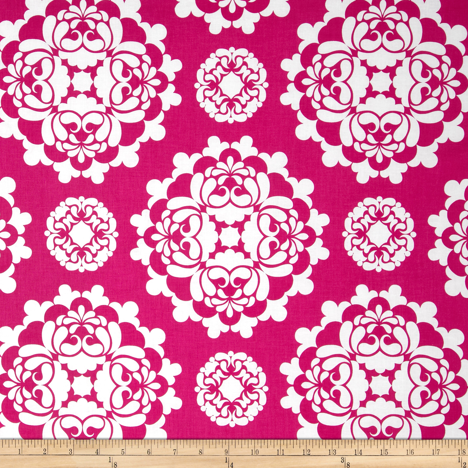 Kanvas Lilified Medley Fuschia/White Fabric