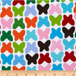 Kaufman Laguna Stretch Jersey Knit Butterflies Bright