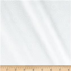 Get Back! 108'' Wide Circles White/White Fabric