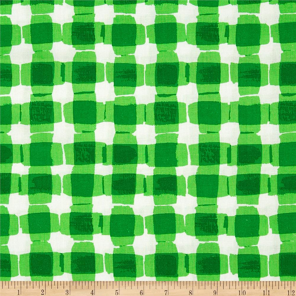 Mad For Melon Mod Gingham Green