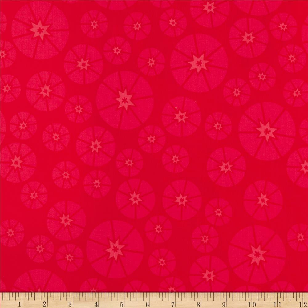 Sew yummy organic topper red discount designer fabric for Cheap sewing fabric