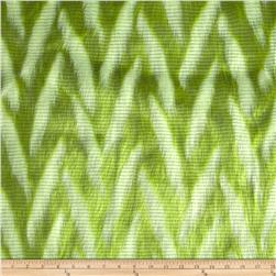 Luxury Faux Fur Zig Zag Lime/White