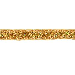 1/2'' Sequin Braid Cord Trim Gold