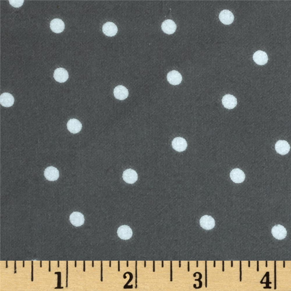 Essentials Flannel A Dot is a Dot Dark Gray