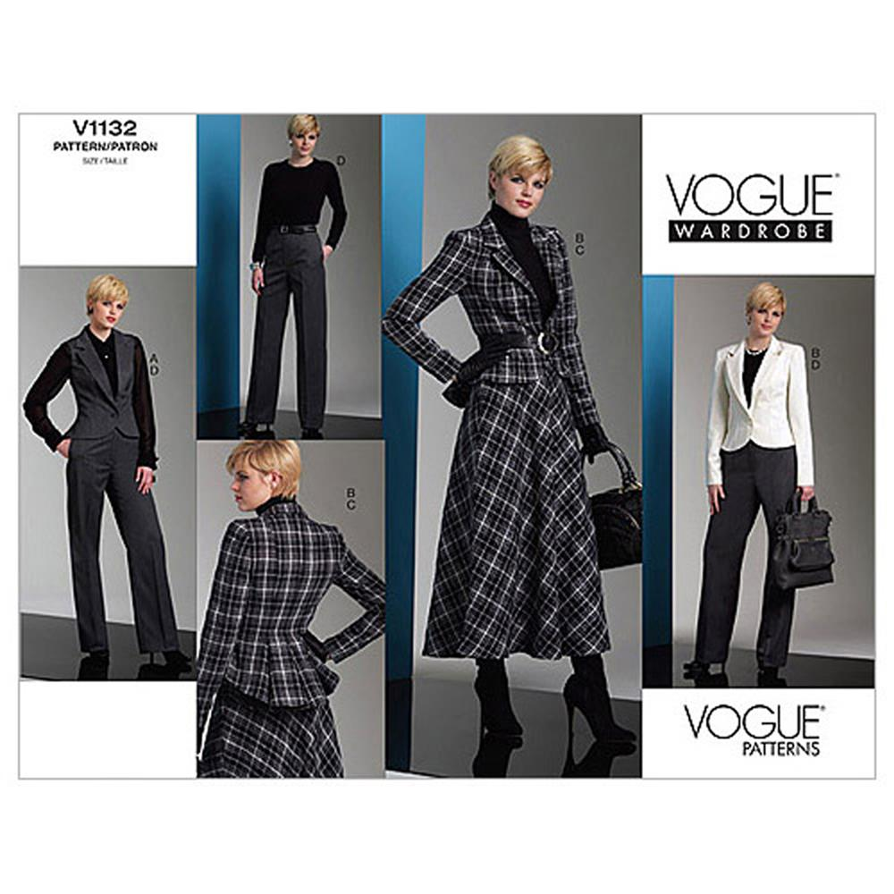 Vogue Misses' Jacket, Skirt And Pants Pattern V1132