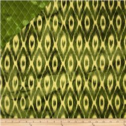 Double Sided Quilted Indian Batik Ikat Lime/Yellow