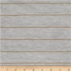 Designer Stripe Jersey Knit Metallic Gold/Grey