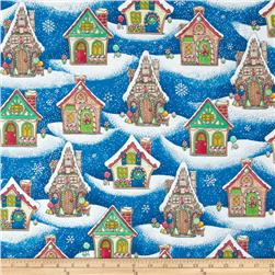 Christmas Gingerbread Houses Navy