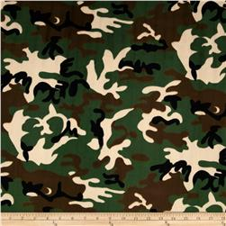 Minky Camouflage Dark Green Fabric