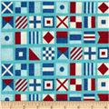 Ships Ahoy Nautical Flags Azure